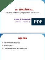 Sesión 1 Definición- Importancia Clasificaciòn
