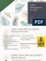 Safety Management for CpE-V