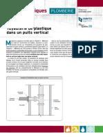 Tuyauterie Plastique Puits Vertical