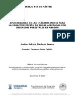 Caracterización de Zonas Afectadas Por Incendios Forestales en Aragón aplicando MODIS