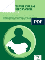 Animal Welfare During Land Transportation