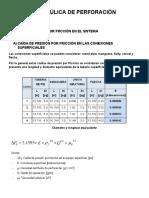 Formula de Hidraulica de Perforacion