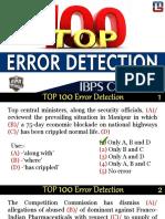 Top 100 Error Detection 1