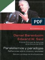 Daniel Baremboin. Paralelismos y Paradojas Barenboim Said