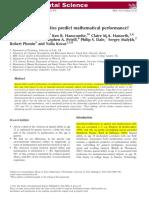 Habilidades Viso-Espaciales y Matemáticas1