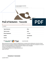 Post of Lecturers - Kerawa.com
