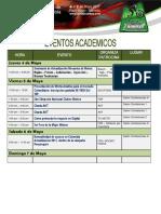 Programacion Eventos Academicos Feria 2 Ruedas 2017