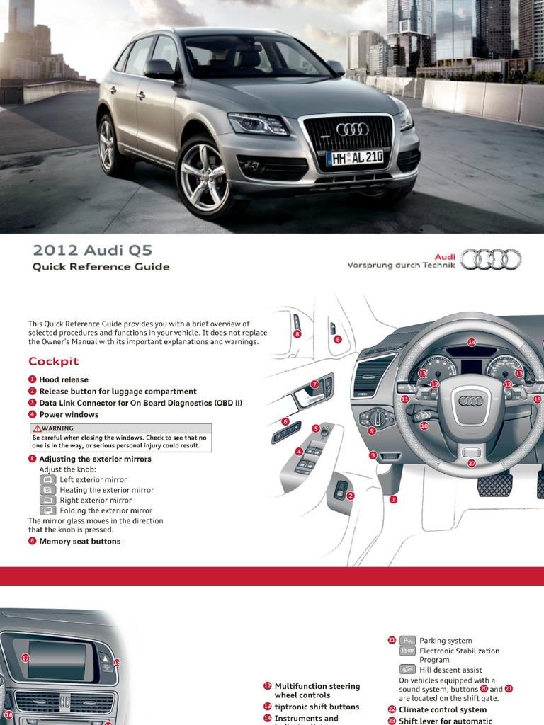 2012 audi q5 sq5 airbag automotive technologies rh scribd com Audi Q4 Audi Q3