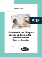 Preparando a Su Hijo Para Que Sea Un Buen Lector Desde El Nacimiento Hasta Los Cinco Years