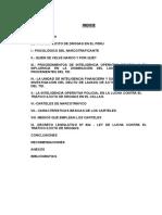 Trafico Ilicito de Drogas en El Peru Soto