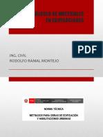 CÁLCULO DE MATERIALES EN EDIFICACIONES