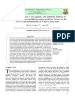 Comparative Studies of the Aqueous and Ethanolic Extracts of Ocimum Gratissimum and Gongronema Latifolium Leaves on the Invivo Antioxidant Levels of Wistar Albino Rats