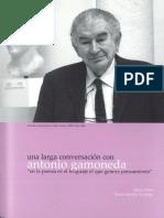 Una Larga Conversacion Con Antonio Gamoneda en La Poesia Es El Lenguaje El Que Genera Pensamiento