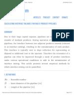Calculating Interface Volumes for Multi Product Pipelines Neutrium