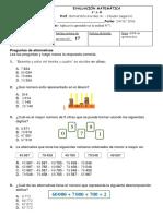 Evaluación Matemática Unidad 7