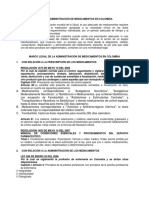 Normatividad en La Administracion de Medicamentos Colombia