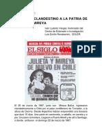Retorno Clandestino de Julieta y Mireya, Iván Ljubetic
