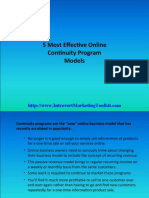 5 Most Effective Online Continuity Program Models