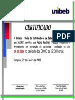 Certificado Membro CIPA - Grupo Mega Segurança Do Trabalho