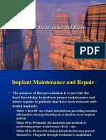 Implant Maintenance