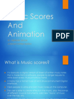 Music Scores and Animation