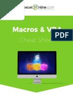 Macros & VBA Cheat Sheet