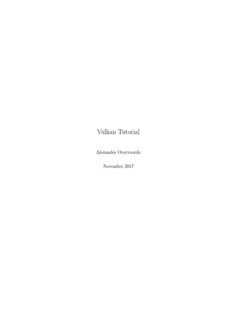 Vulkan Tutorial   Shader   Graphics