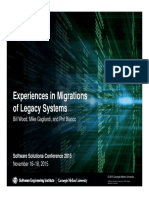© 2015 Carnegie Mellon University Software Solutions Conference 2015 November 16–18, 2015 Distribution Statement A- Approved for Public Release;  Distribution is Unlimited Experiences in Migrations  of Legacy Syste.pdf