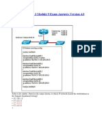 CCNA Discovery 3 Module 9 Exam Answers Version 4