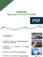 Legislação Águas Para Consumo e Tratadas