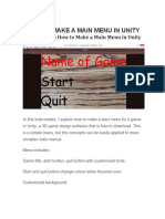 Main Menu in Unity