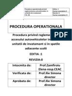 Procedura Acces Unitate