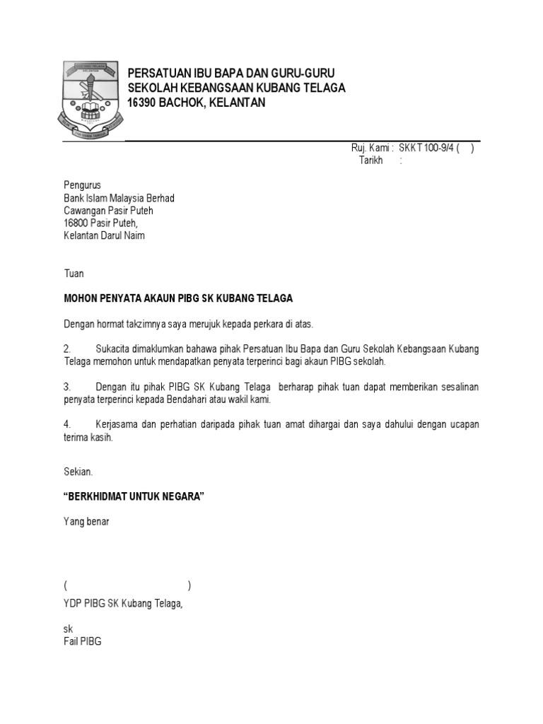 Surat Mohon Penyata Kewangan Pibg 2