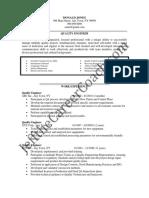 Quality Engineer Sample Resume (3)