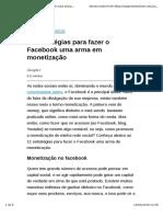 11 Estratégias Para Fazer o Facebook Uma Arma Em Monetização