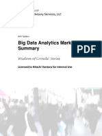 2017 Big Data Analytics Market Study Summary -Wisdom of Crowdsr Series -Licensed to Hitachi Vantara for Internal Use - Copyright 2017 Dresner Advisory Services