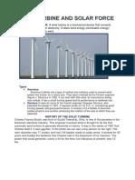 Wind Turbine and Solar Force