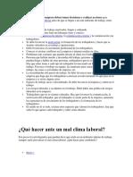 Matriz Dofa Clima Organizacional