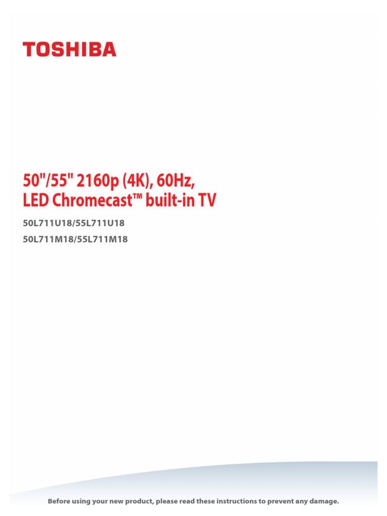 Toshiba 50l711m18 Led Television Ac Power Plugs And Sockets Hdmi