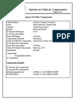 Informe de Falla Equipo Parabriza 257