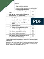 GIAC Gold Paper Checklist