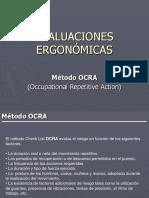 Evaluaciones Ergonómicas - Método OCRA