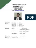 Franklin Eduardo Mina Chevez