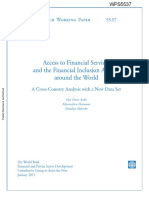 Access to Financial Services and the Financial Inclusion Agenda