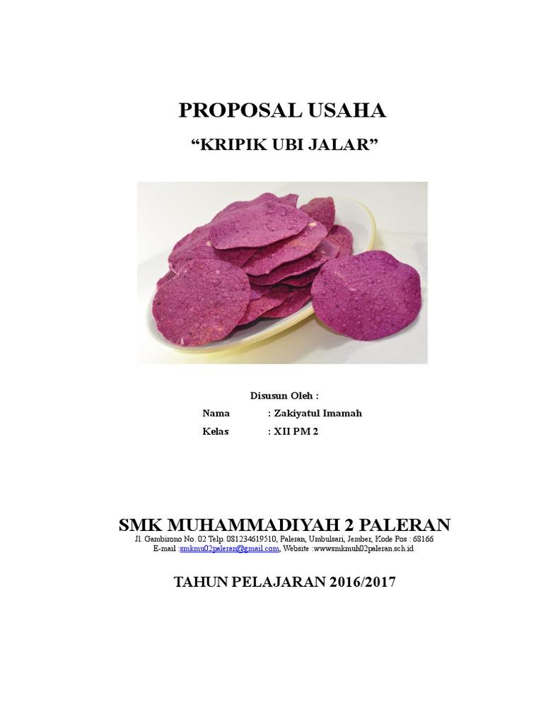 Proposal Kripik Ubi Jalar