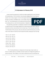 A Brief Follow Up Note to the March 2018 Investment Letter - Corona Associates Capital Management LLC