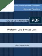 Ley de La Reforma Magisterial