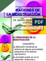 Alterasiones de La Menstruasión