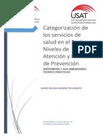 Categorización de Los Servicios de Salud en El Perú