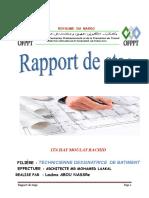 Rapport de STAGE Dessinateur Bâtiment